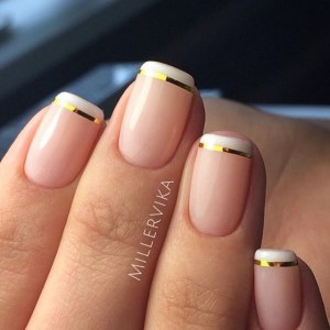 Cool french  manicure nail design idea