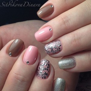 manicure nail art idea for short nails