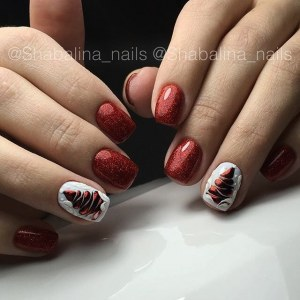 New Year manicure nail design idea