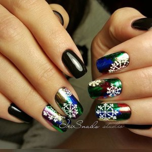 New Year's nail design idea